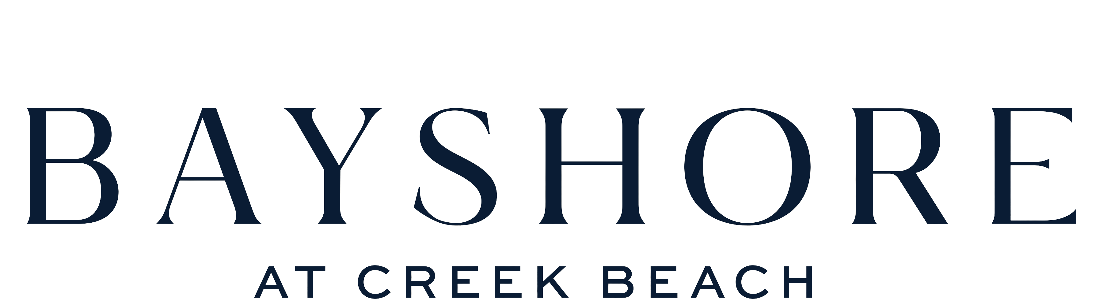 Bayshore Apartments at Creek Beach Logo