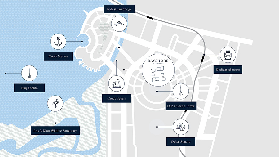 Bayshore Apartments by Emaar Master Plan